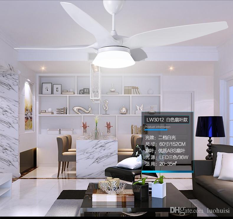 "American vintage 52"" fan light ceiling chandelier fans modern minimalist living room dining room ceiling chandelier fan LED lamp controller"