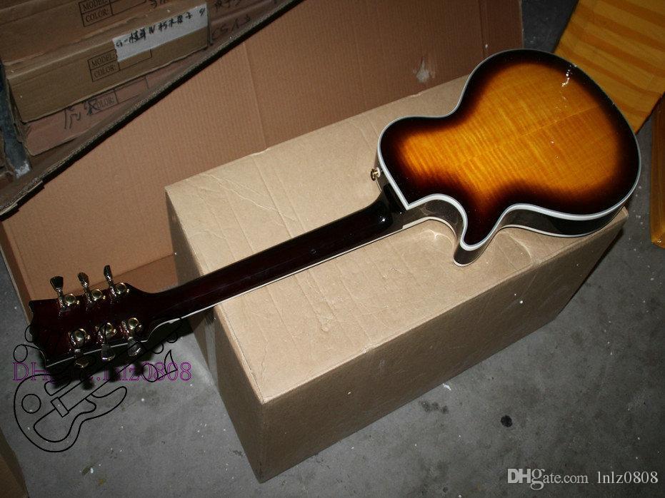 Alta Qualidade Mais Recente Flame top voltar Guitarra Elétrica Ebony fingerboard Mahogany Atacado Guitarras Frete GrátisA 123