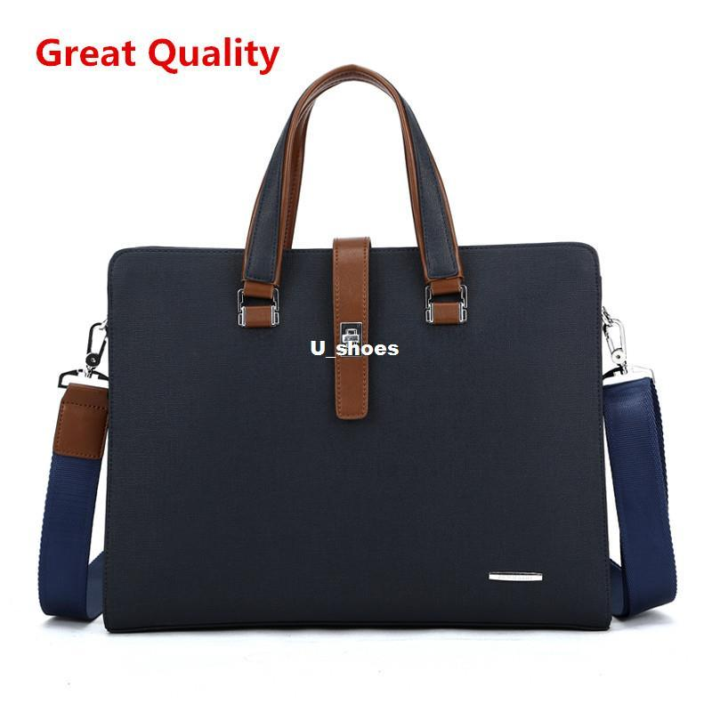 Men Leather Briefcase Computer Laptop Bag Brands Business Handbag ...