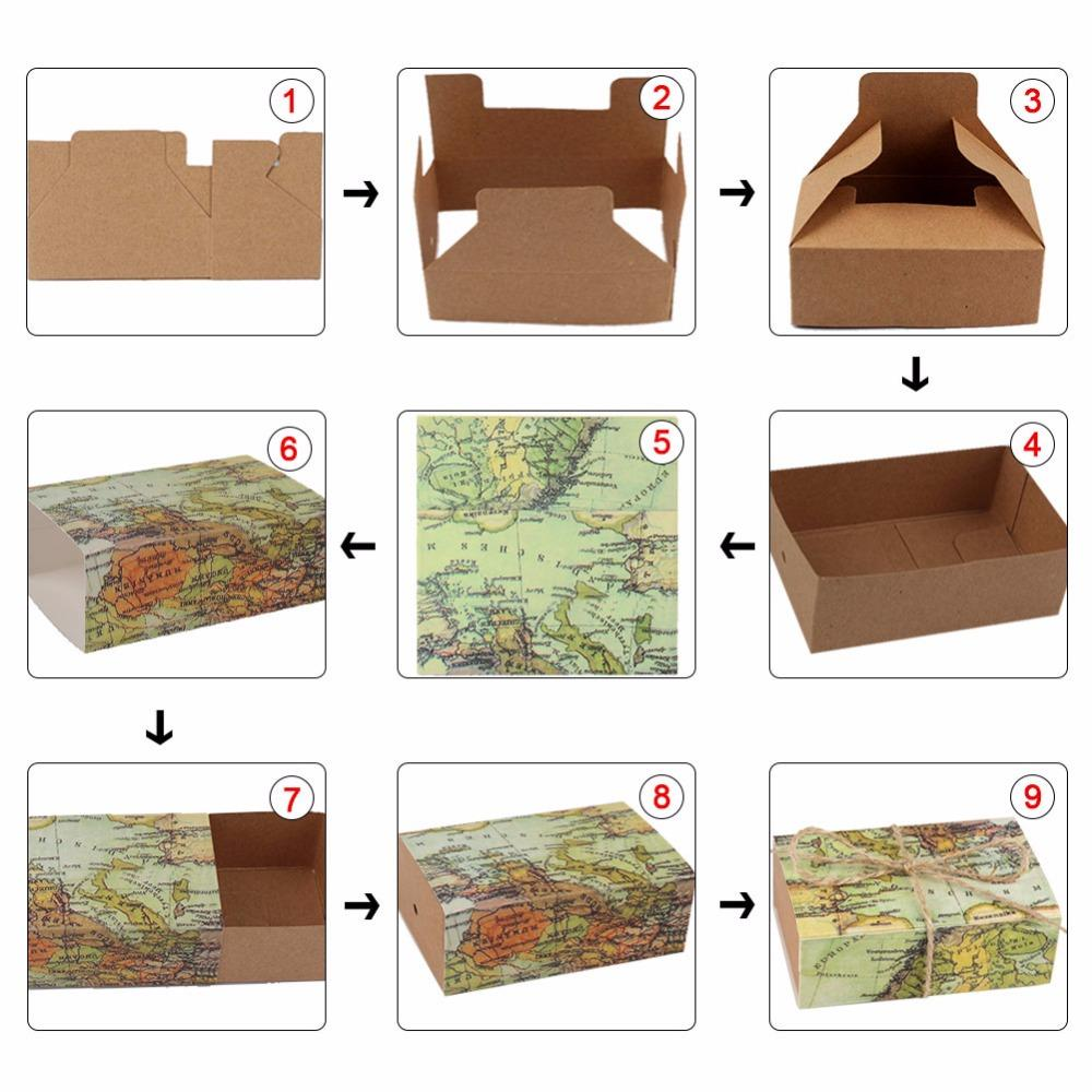 Ourwarm Wedding Favors and Gifts Box Paper Candy Box Gift Boxes Bags for Guests Wedding Decorations Festive Party Supplies