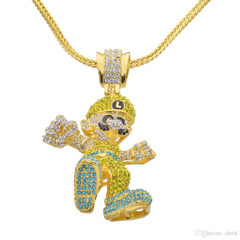 Wholesale Hip Hop Game Theme Gold Necklace Game Fans Collection ...