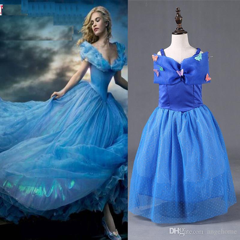 b28ebc1d789 Acheter Cendrillon Robe Pour Enfants Robe En Marbrure De Cendrillon Robe De  Soirée À La Princesse Princesse Cinderella Costume De Cosplay En Dentelle De  ...