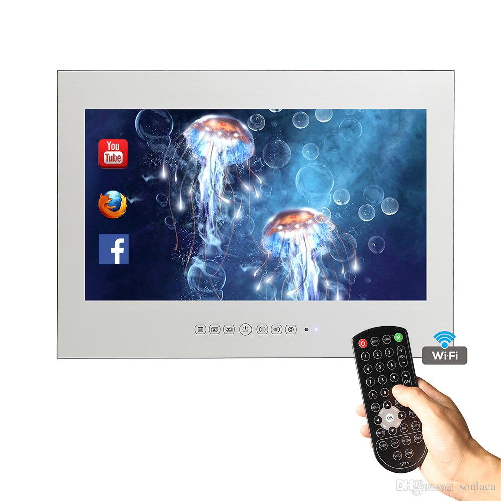 15.6 Inch Magic Mirror For In Bathroom Wall Led Android Smart Shower ...