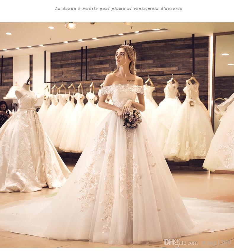 Wedding Dress 2017 New Color Yarn Bride Princess Dream Color ...