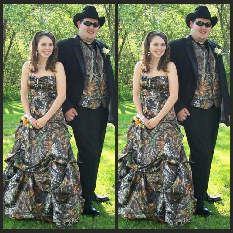 2016 Strapless Mossy Oak Camo Prom Dresses Vestido De Festa Longo ...