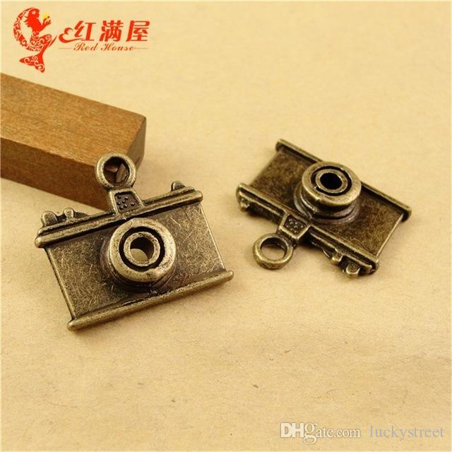 A2281 21*23MM Antique Bronze camera charm pendant beads manual, DIY retro jewelry accessories, vintage charms for necklace chandeliers