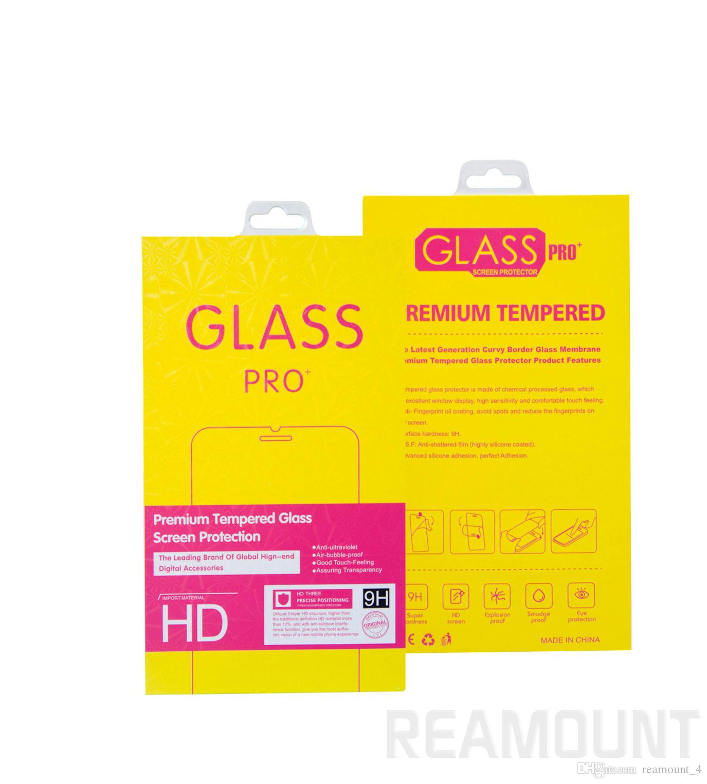 Wholesale Mobile Phone Premium Tempered Glass Film Guard Retail Packaging Box for iPhone 8 Paper Package
