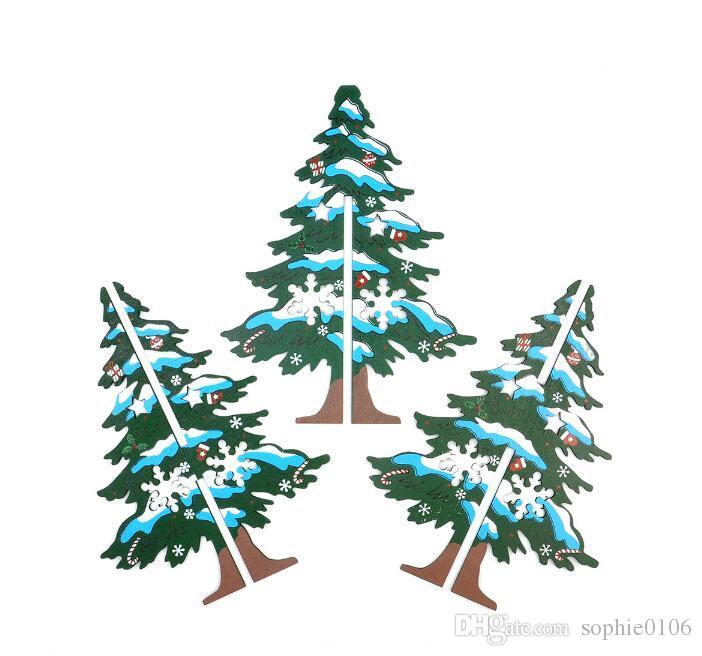 16.5cm Wooden Christmas Tree Christmas Desk Ornament Decoration Home Xmas Tree ZYT 001