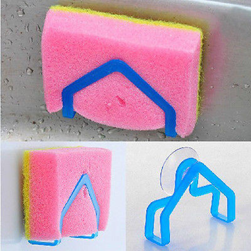Kitchen Brush Holder Sponge Suction Cup Sink Draining Washing Towel Rack Holder