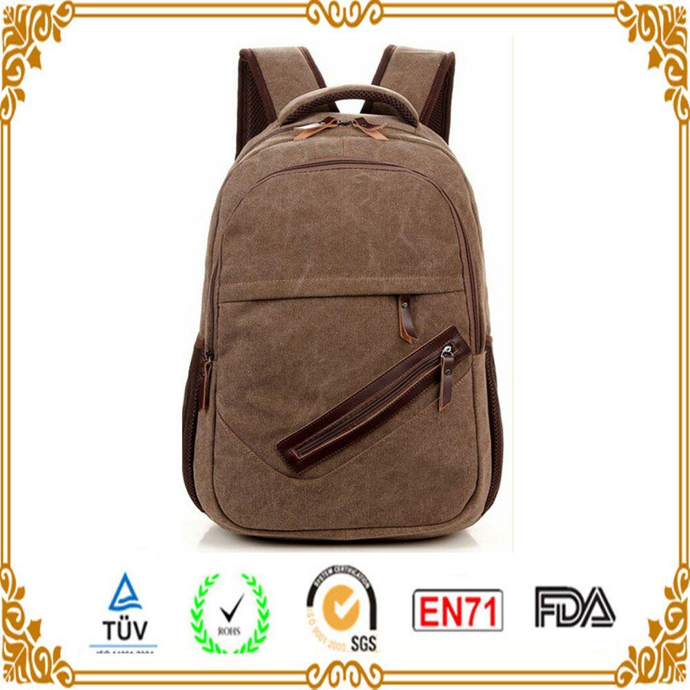 3c2b1f4334a4 ... Oem Bag Canvas Fabric Material Side Zipper Open Cover Canvas Backpack  Bag In Xiamen Bag Maker ...