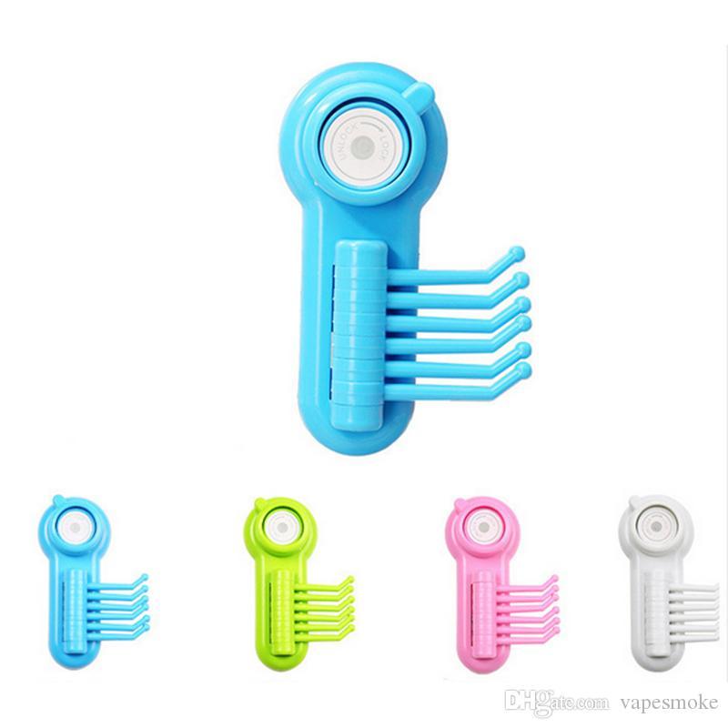 Creative 180 ° drehbarer Haken Nahtloser leistungsstarker Vakuumsauger Haken Klaue bunt praktisch 6