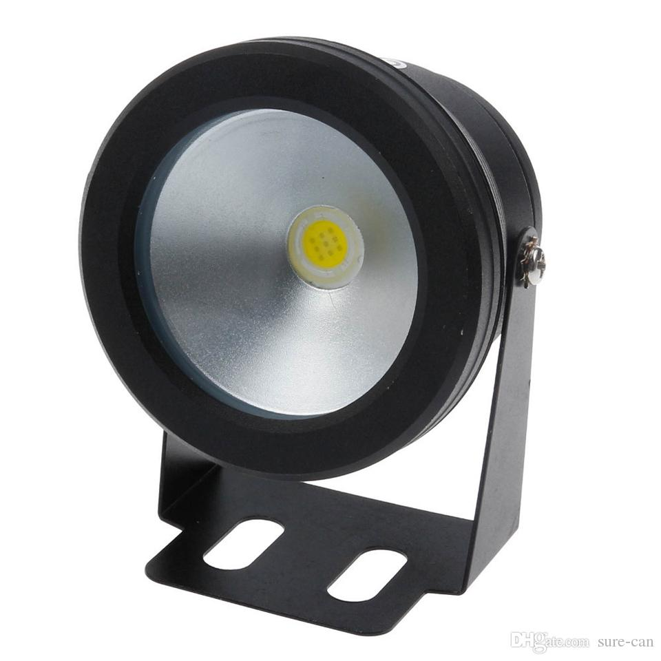 Pas cher Led Lumière sous-marine 10W DC RGB blanc froid Blanc chaud étanche IP68 Fontaine Piscine lampe corps couverture noire pour l'extérieur