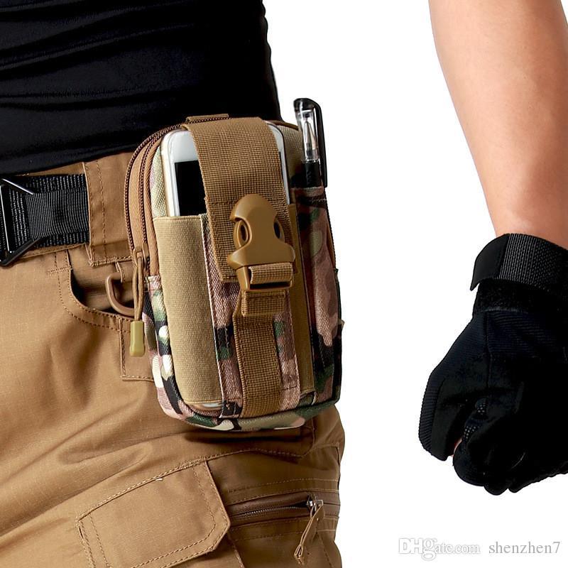 Ceinture ceinture Bum Sac Universel Running Sport Étui pour téléphone portable Couverture Molle Pack Bourse Pochette portefeuille, stylo pour iphone outil de portable SCA174