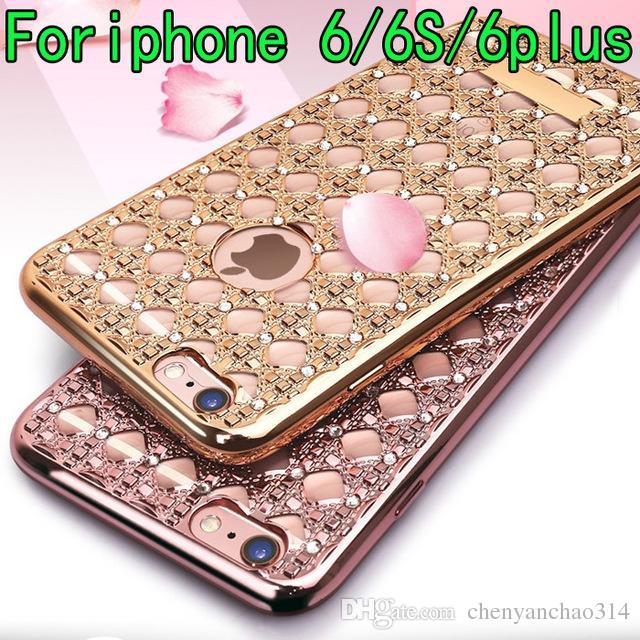 e38938a0534 Luxury Shining Diamond Case for Apple Iphone 6 6plus Soft Plating ...