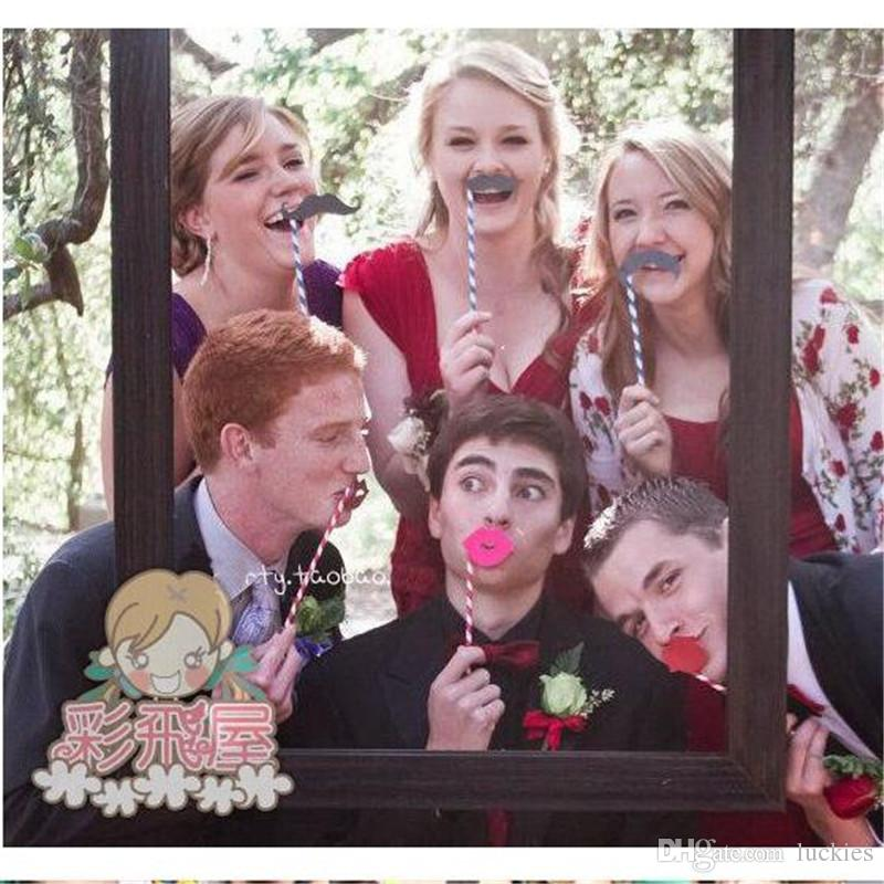 Mr Mrs photo booth Props Love DIY On A Stick Photography Wedding Decoration Party Decoration photobooth photocall