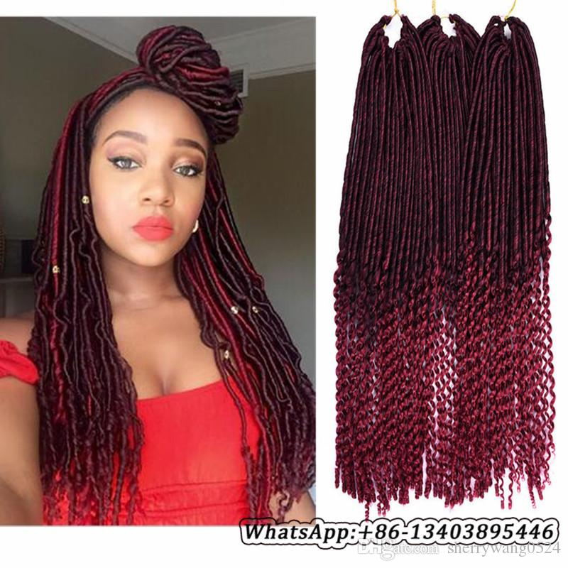 5packsfull head wearing faux locs curly crochet hair ombre t1b