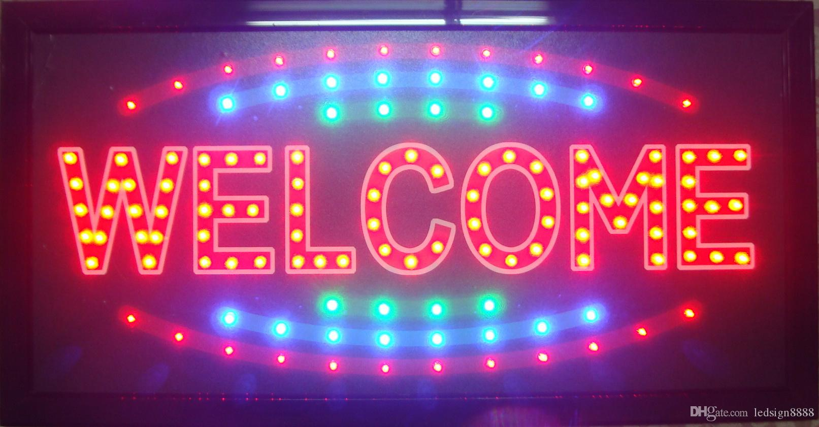 wholesale business welcome business shop open led sign direct selling 10x19 inch indoor led neon. Black Bedroom Furniture Sets. Home Design Ideas
