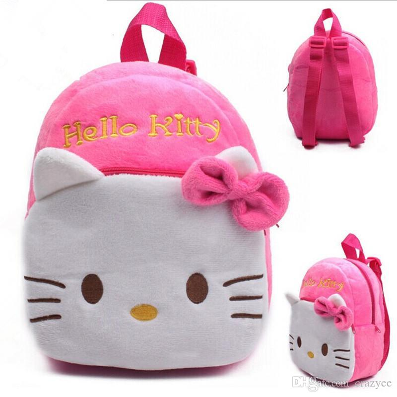 Hot! 1-2 Years Old Small Children s Plush Hello Kitty Bow Backpack ... 7b2791c6c1
