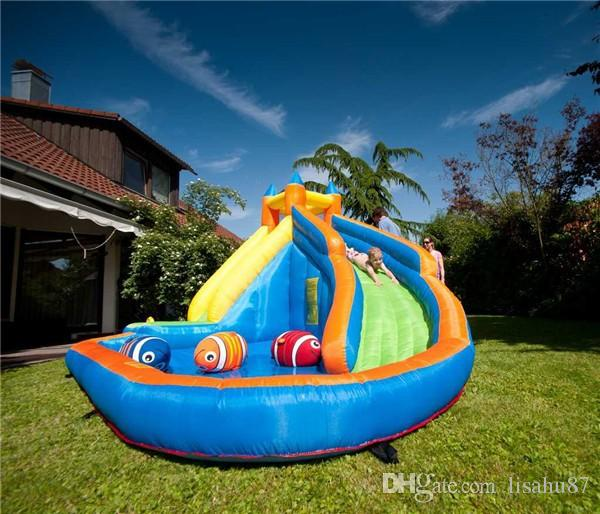 best kids inflatable water slide big pool bounce house jumper bouncer jump bouncy castle under 7387 dhgatecom