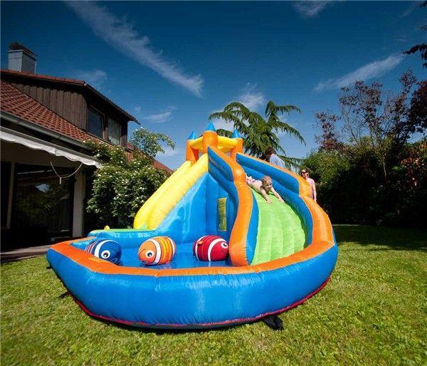 best kids inflatable water slide big pool bounce house jumper bouncer jump bouncy castle under dhgatecom - Water Slide Bounce House
