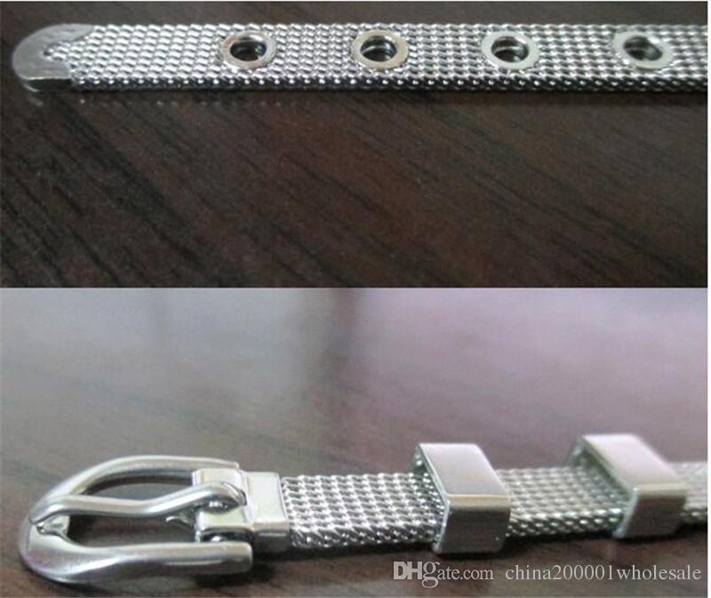Бесплатная Доставка!!! 10 шт. / лот 6 мм широкий 21 см длина Стальной браслет Браслет может прийти через 6 мм слайд прелести DIY аксессуар