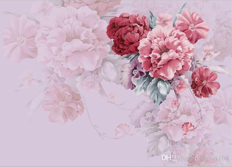 American Village Pastoral Wallpaper Chambre Salon TV Fond Papier Peint À La Main Chaud Floral Grande Mur Toile