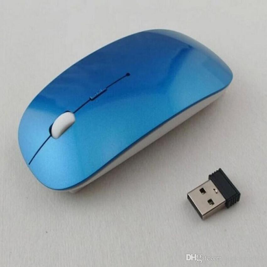 2020Cheapest Melhor Wireless Mouse com Ultrafino Optical 2.4G Receptor Super Slim mouse para computador PC Mice Laptop desktop com 6 cores