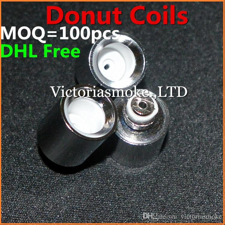 DHL Free Donut Ceramic Coils Wax Coils for glass globe atomizer Cannons bowling atomizer donut coils ecigs glass vaporizer donut wax coils