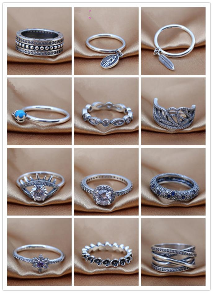 2016 charms rings s925 ale sterling silver band rings Simple stars style brand rings wholesales hot sales