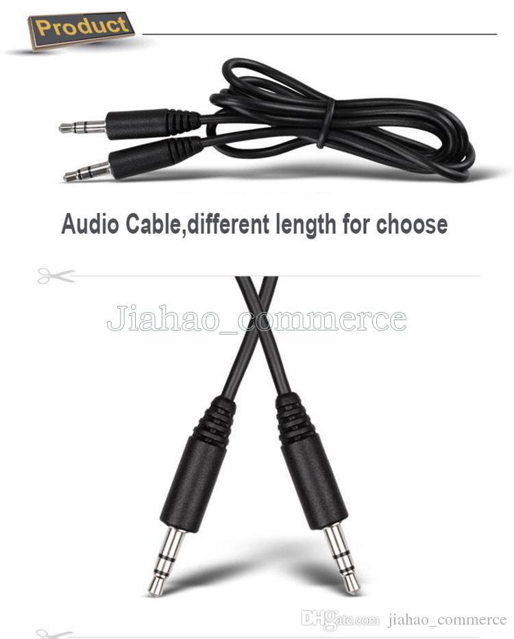 70cm 3,5 mm à 3,5 mm stéréo prise d'entrée audio iPod voiture AUX PC TV MP3 Câble Argent Lead