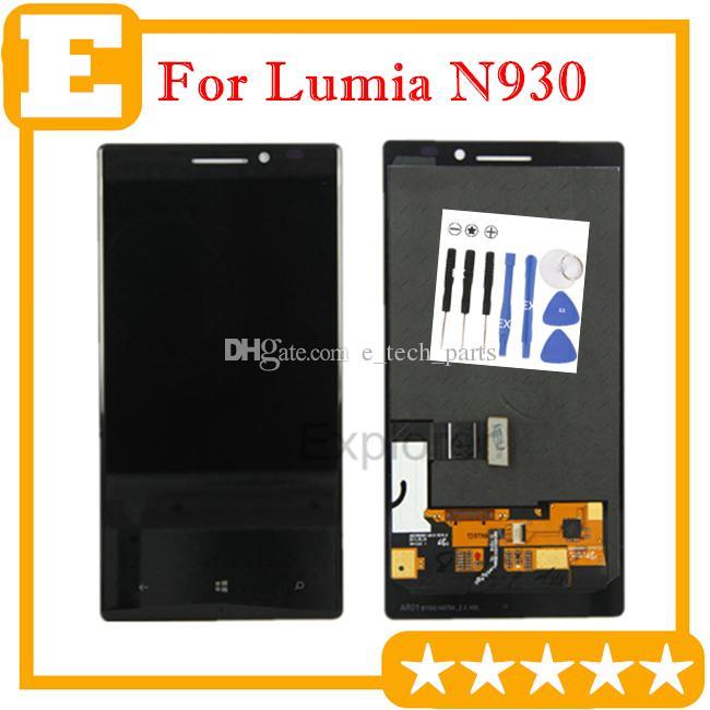 / لوط الأصلي جديد لنوكيا Lumia 930 N930 شاشة LCD + شاشة تعمل باللمس محول الأرقام الجمعية زجاج استبدال عدسة أدوات الجزء مجانية