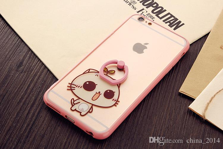 2 in 1 case New design luxury finger ring holder cell phone back case for iphone6 6plus iphone ring holder case hot sale
