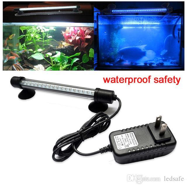 Ip68 Tank Bleu Marin Étanche Fish Corail Lampe 18cm Éclairage Led Ce Rouge Rgb Sous Lumières Piscinas Aquarium Piscine Lumière Blanc lFJ1cK