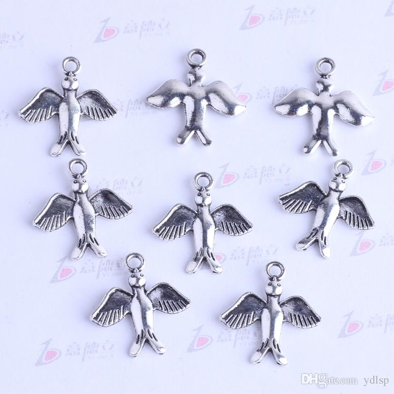 Antique Silver/bronze Swallow bird Charms DIY Vintage Pendant DIY Jewelry Making 2424