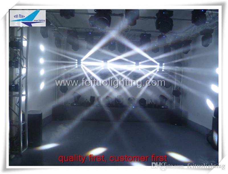12 / lote araña de luz de escenario llevó haz 4in1 rgbw 8x10w cabeza móvil araña llevó haz blanco