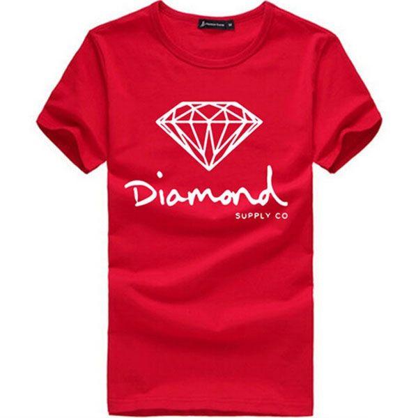 Elmas Kaynağı Co Baskılı Adam T Gömlek Yeni Yaz Erkek T-shirt Harajuku Rahat Hip Hop Pamuk Tees camisa AMD217