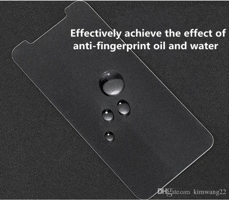 IPhone8 Için 8 Ekran Koruyucu Temperli Cam iPhone8 Cep Telefonu Koruyucu Perakende Paketi ile 9 H Sertlik Ekran Koruyucu