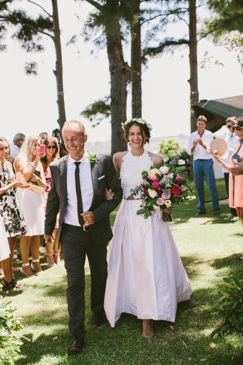 Vestido de noiva de duas peças de verão fora do vestido de noiva de noiva halter sem encosto sexy branco elagnt rendas e tafetá vestido de casamento