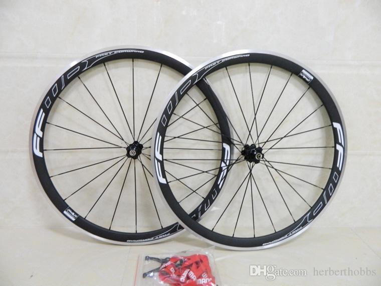 Matte/Glossy Alloy Ffwd 38mm Carbon Fiber Wheels Clincher With Powerway R36 Hubs Carbon Wheelset Road Bike Bicycle Wheel