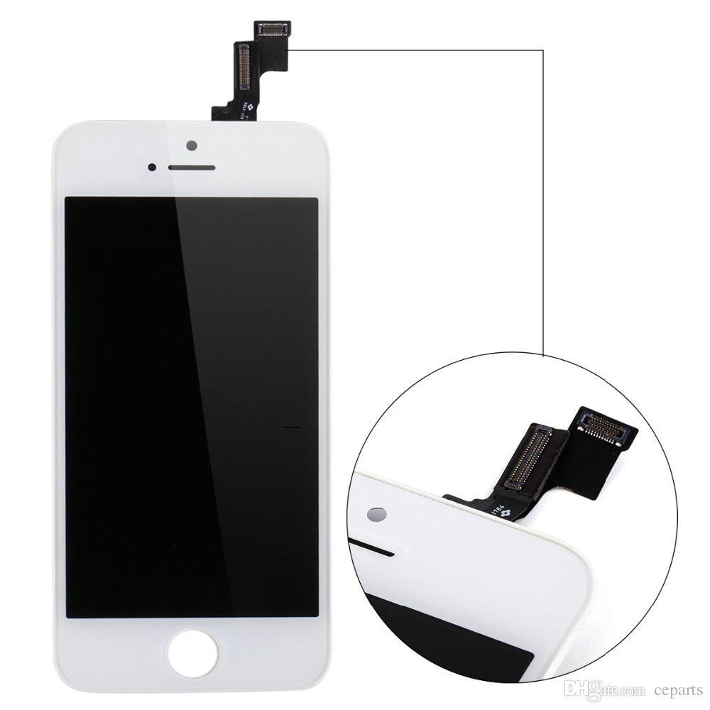 Display LCD iphone 6 6S 7G 8G con Touch Digitizer Schermo completo con telaio Parti di ricambio assemblaggio completo DHL Ship Black / White