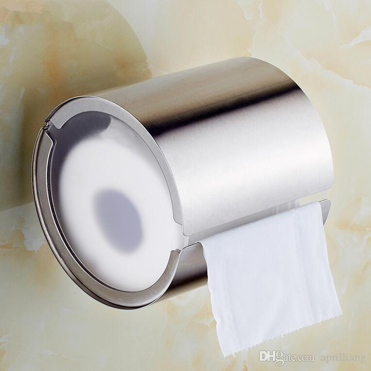 Brand New Stainless Steel Toilet Paper Holder Round Shape Tissue Roll Wall Mount Brushed Nickel Bathroom Accessories