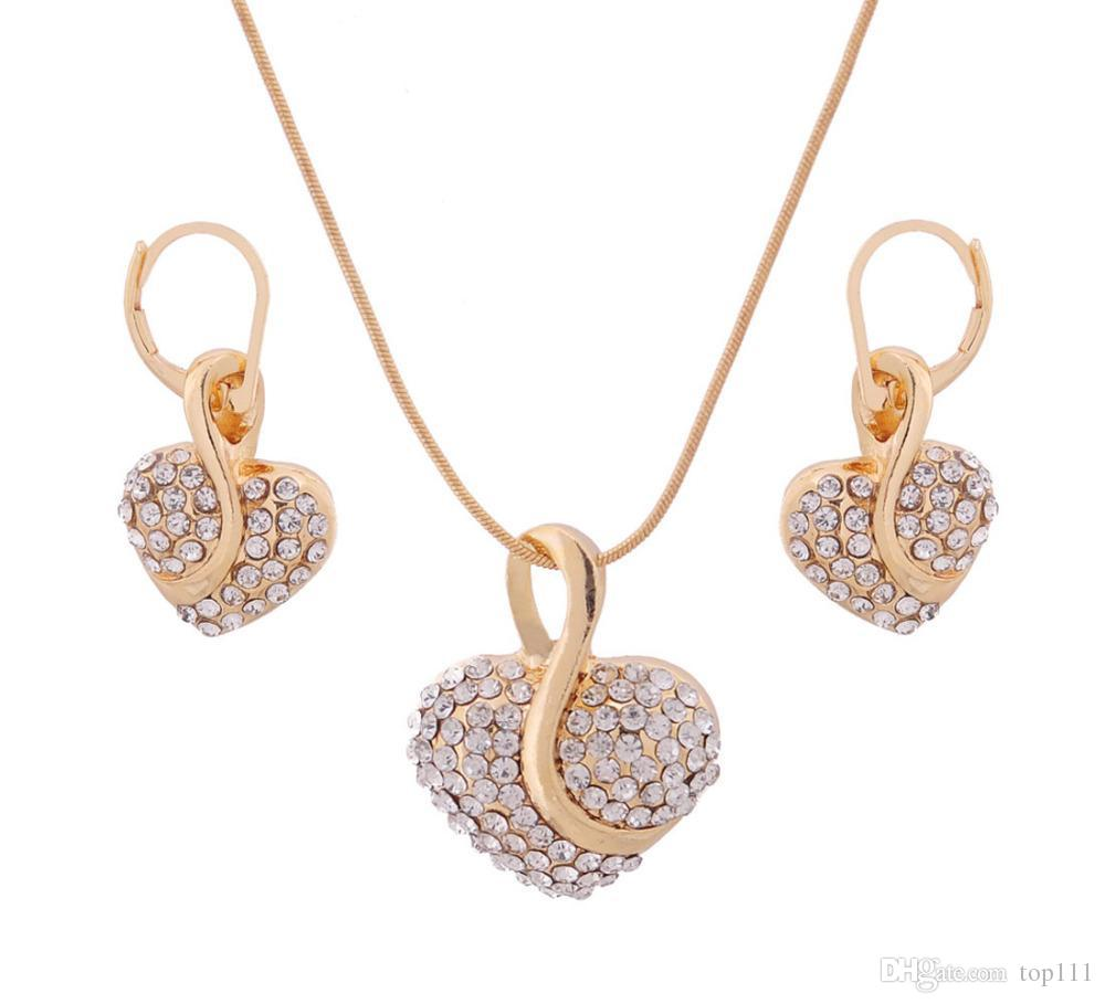 Best Quality Fashion New 18k Yellow Gold Plated Heart Pendant ...