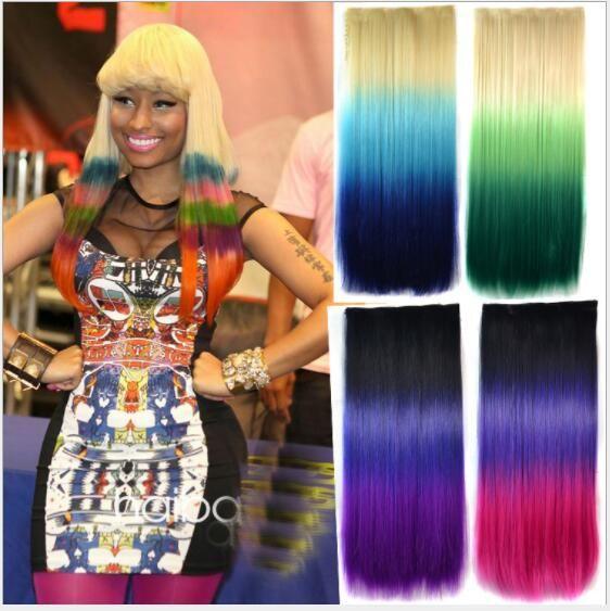 Three Color Five Card Hair Piece Color Gradient Wig Film Piece Of No