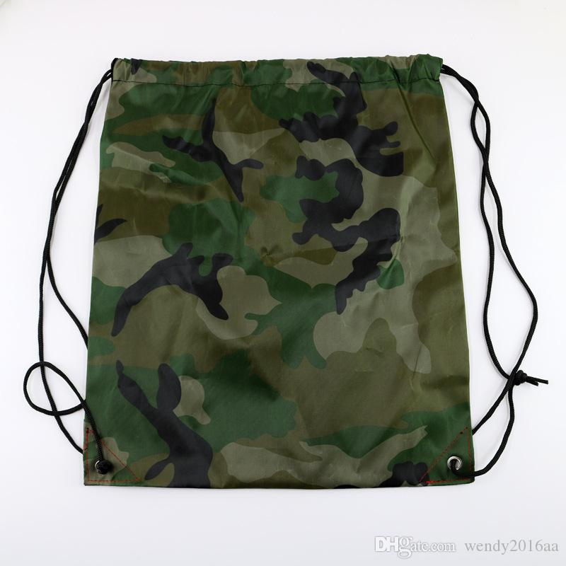 100 unids Nuevo lazo 210polyest tela Bolsas de asas Mochila impermeable bolsas plegables Promoción de marketing bolso de hombro bolsas de la compra