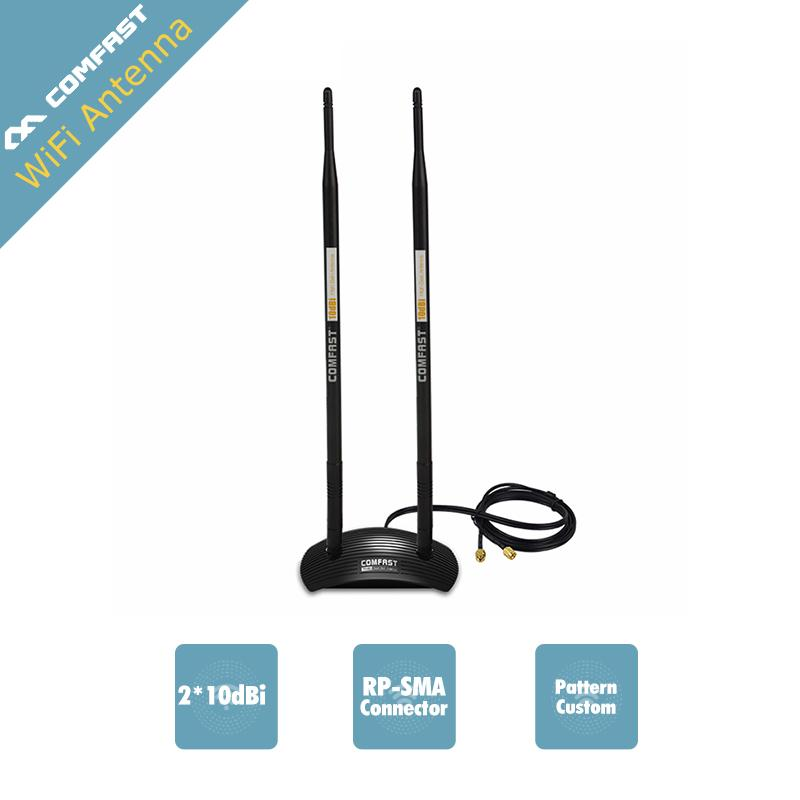 Wholesale- Comfast CF-ANT2410DA 2 4GHz 10dBi 802 11b/g HIGH GAIN WiFi  Antenna Aerial RP-SMA Male Connector For PCI Card USB Wireless Router