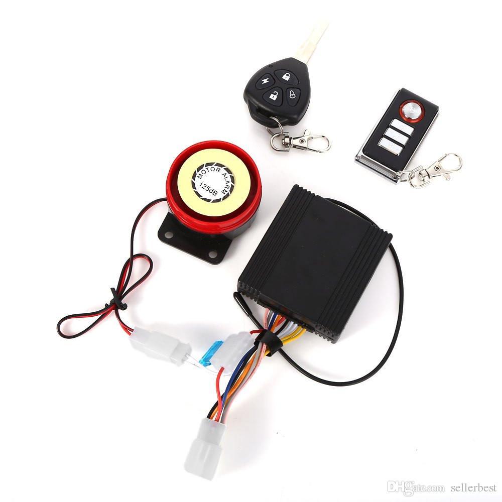 Nouveau 9 - 15V Professionnel Imperméable À L'eau Anti-vol Moto Sécurité À Distance Système D'alarme De Conduite avec Clé de Démarrage Automatique du Moteur