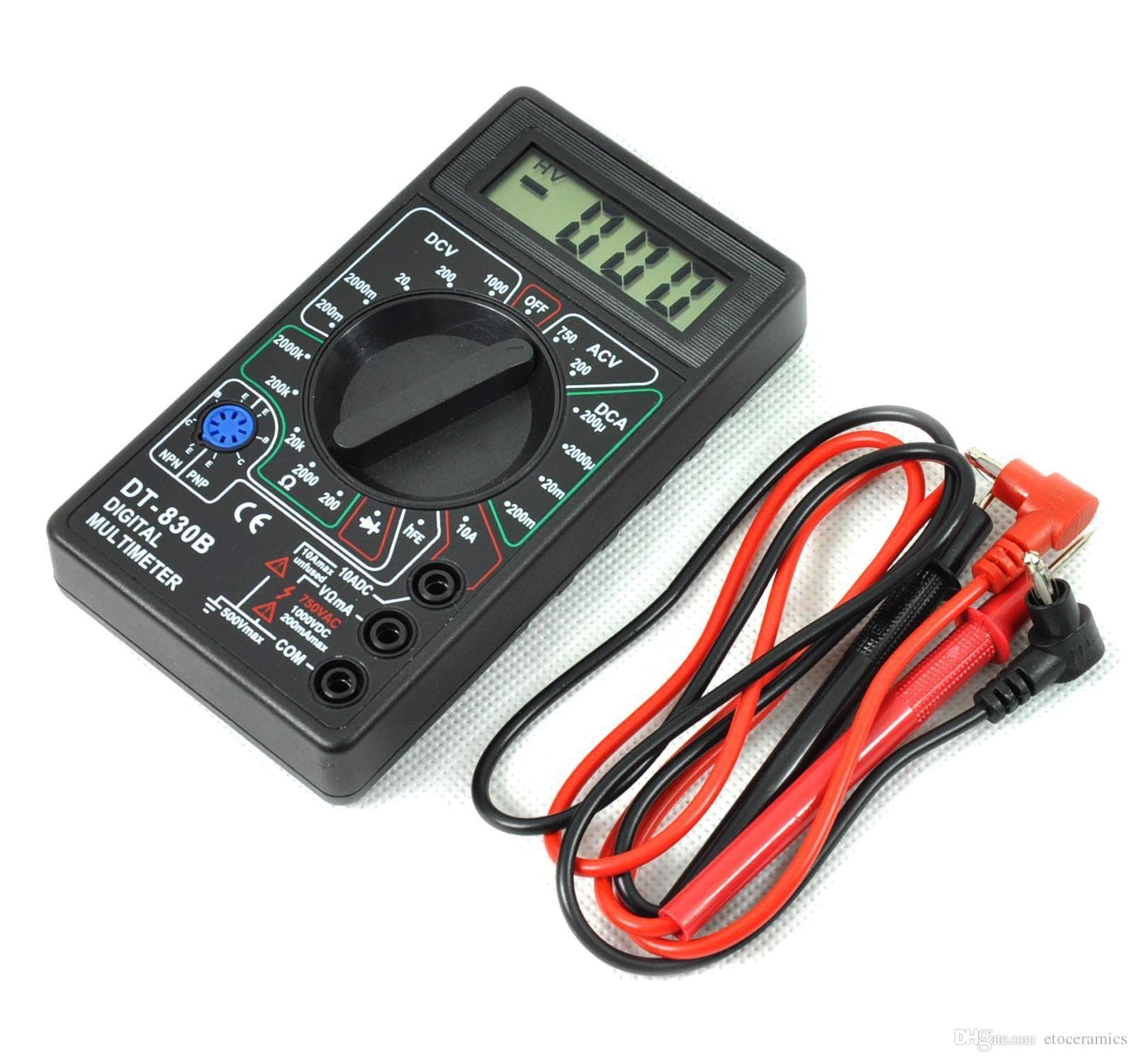 Dt830b Multimeters Ammeter Voltmeter Ohm Electrical Tester Meter Lcd Digital Multimeter Schematic Free Electronic Circuits 8085 Online With 313 Set On