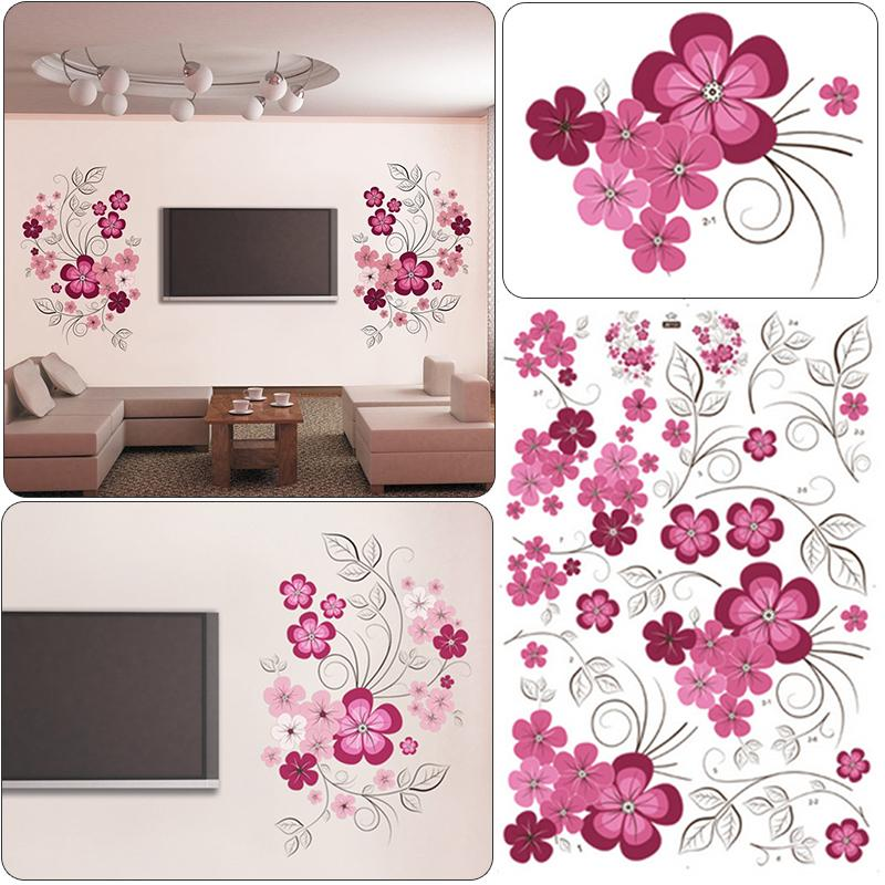 DIY Wall Art Decal Decoration Fashion Romantic Flower Wall Stickers  Furnishings Home Decor 3D Wallpaper Mayitr Baby Room Wall Stickers Baby Wall  Decal From ...