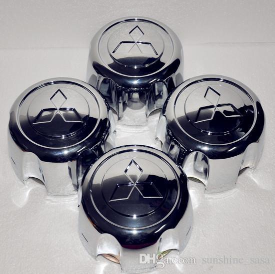 4x PARA Mitsubishi Pajero Montero Delica Space Alloy Cubo central con tapa Shogun, Pajero, Montero, Challenger, Delia, L200, L400, etc.