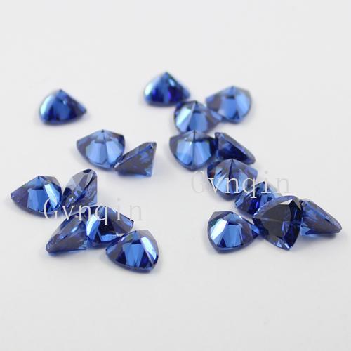 / 많은 무료 배송 5x5mm의-은 12x12mm 큐빅 지르코니아 파란색 조 개 느슨한 보석 돌